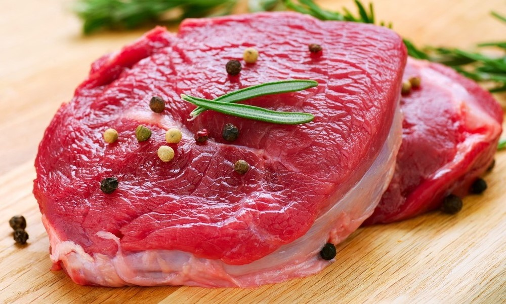 Slab of red meat