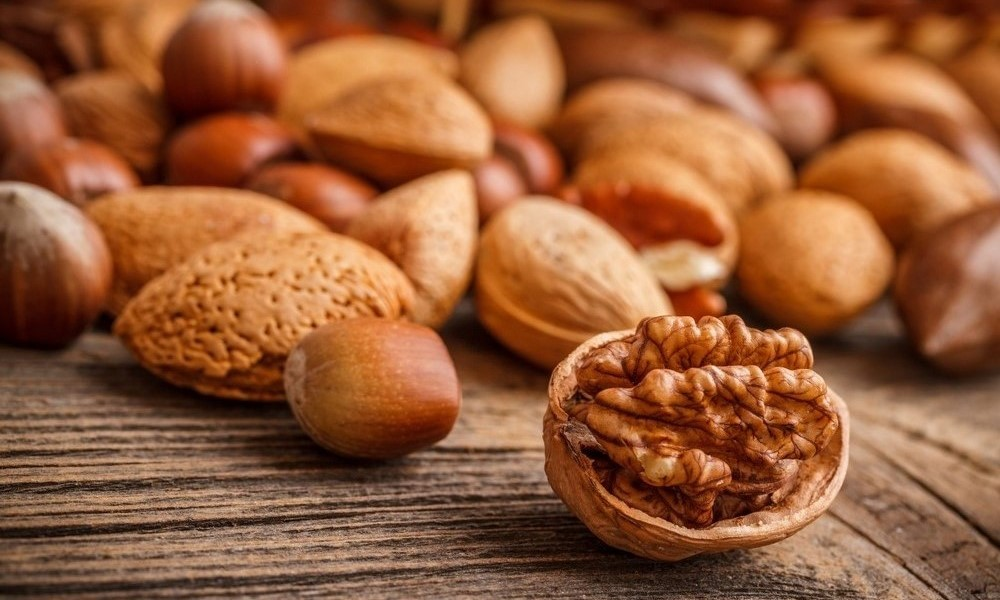 Different nuts together